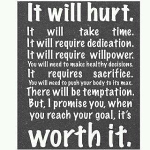 Stick with it and you will overcome!