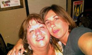 You and I, I was heartbroken and you drug me out this night. You are pretty drunk in this picture, which is a rarity in itself. I miss you Mom
